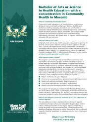 Bachelor of Arts or Science in Health Education with a concentration ...