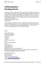 Stellenangebot: Fachlagerist/in