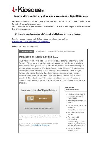 Comment lire un fichier pdf ou epub avec Adobe Digital ... - i-Kiosque