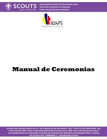 Manual de Ceremonias - Scouts de Venezuela