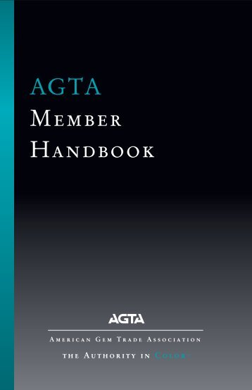 AGTA Member Handbook - American Gem Trade Association