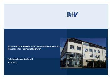 Strafrechtliche Risiken und zivilrechtliche Fallen für Steuerberater ...