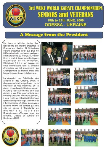 BULLETIN WUKF JUNE 2009 - WUKF - World Union of Karate-Do ...