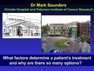 What factors determine a patient's treatment - Beating Bowel Cancer