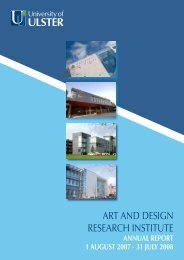ART AND DESIGN RESEARCH INSTITUTE - University of Ulster