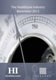 The Healthcare Industry Barometer 2012 - Nabarro