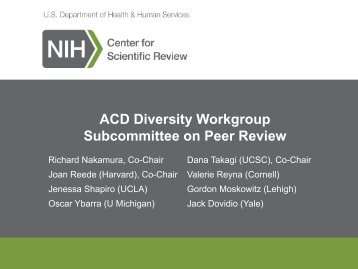 Nakamura ACD Diversity Peer Review June 2013