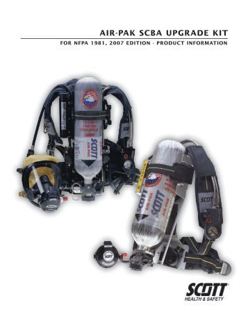 Air-PAk SCBA UPgrAde kit