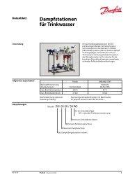 Dampfstationen für Trinkwasser - Fernwärme-Komponenten - Danfoss