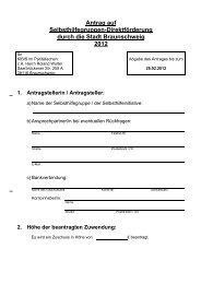 Antrag - Selbsthilfe Braunschweig