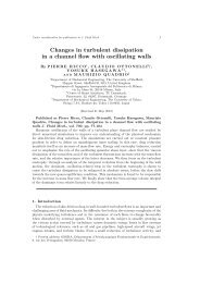 Changes in turbulent dissipation in a channel flow ... - Pierre Ricco