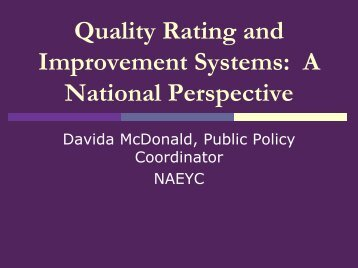 Quality Rating and Improvement Systems