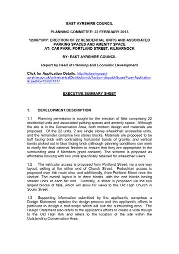 copies enclosed - EAC Document repository - East Ayrshire Council