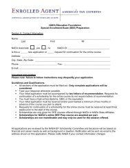 SEE Scholarship Application - National Association of Enrolled Agents