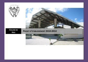 projet 20102014 redaction - Direction des Enseignements ...