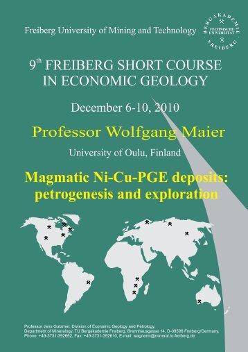 Magmatic Ni-Cu-PGE deposits: petrogenesis and exploration ... - SGA