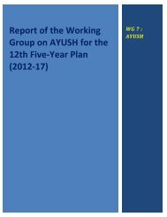 Report of the Working Group on AYUSH for the 12th Five-Year Plan ...