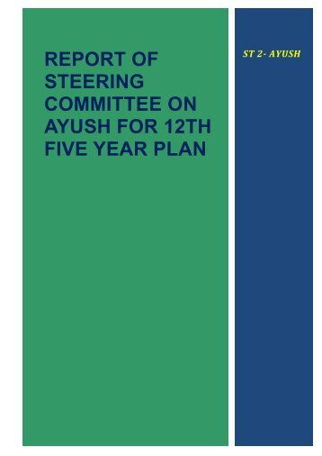 Draft report of AYUSH Steering Committee for 12th Five Year Plan