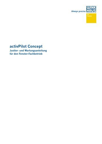 activPilot Concept - Bewa-Plast