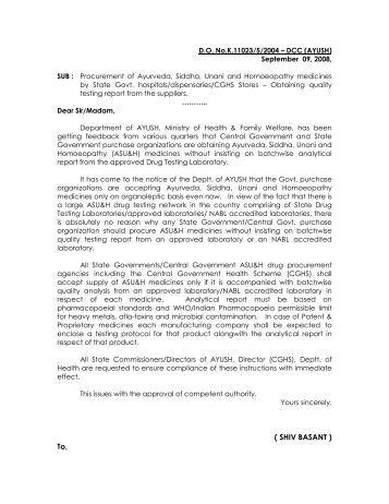 Procurement of AYUSH medicines by State Govt. Hospitals