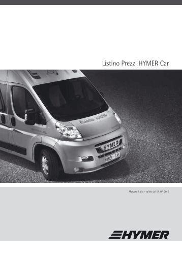 Listino Prezzi HYMER Car