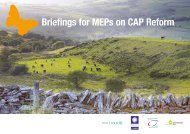 Briefings for MEPs on CAP Reform - Scottish Environment LINK