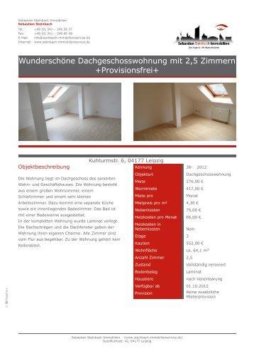 Wunderschöne Dachgeschosswohnung mit 2,5 Zimmern + ...