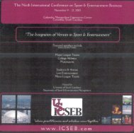 November 9-12, 2005 - College of Hospitality, Retail and Sport ...