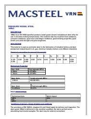 PRESSURE VESSEL STEEL 16Mo3 - Macsteel