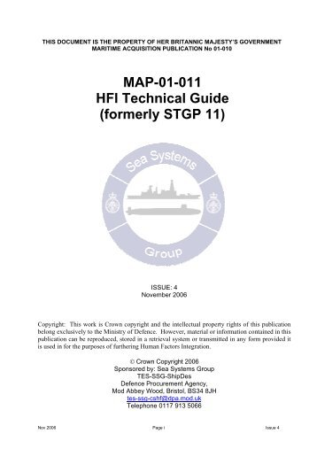 MAP-01-011 HFI Technical Guide - Human Factors Integration ...