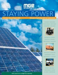 MGE Energy Summary Annual Report 2004