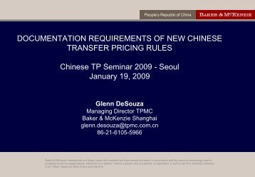 DOCUMENTATION REQUIREMENTS OF NEW CHINESE ... - Yulchon