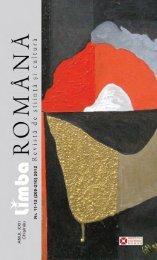 Creativitate şi schimbare lingvistică în viziunea lui ... - Limba Romana