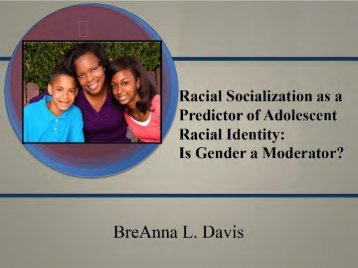 Racial Socialization, Gender, and Racial Identity in Black Adolescents