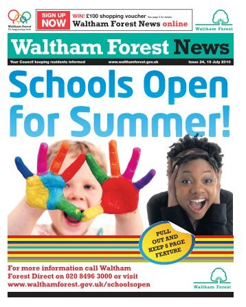 School open for summer - Waltham Forest Council