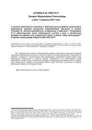 UCHWAŁA Nr 1050/74/11 Zarządu Województwa Pomorskiego z ...
