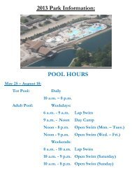 Pool Hours and Information - for the SFEA Goldtimers Retiree Club
