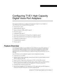Configuring T1/E1 High Capacity Digital Voice Port ... - docs.mind.ru