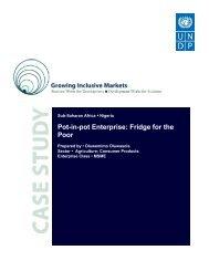 Pot-in-pot Enterprise: Fridge for the Poor - Growing Inclusive Markets
