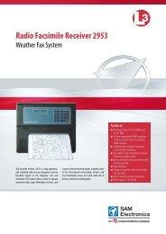 Radio Facsimile Receiver 2953 - L-3 Marine & Power Systems