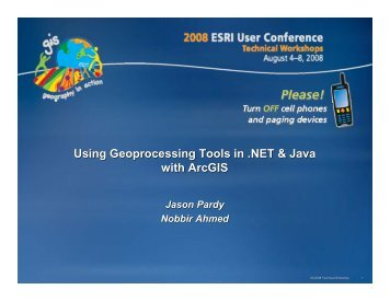 Using Geoprocessing Tools in .NET & Java with ArcGIS