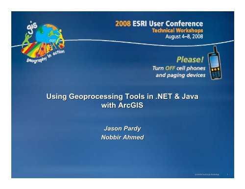 Using Geoprocessing Tools in  NET & Java with ArcGIS
