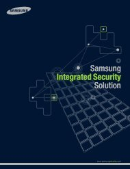 Samsung Integrated Security Solution Samsung ... - America Nexus