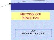 METODOLOGI PENELITIAN - Blog untuk staff dan dosen d3ti mipa uns