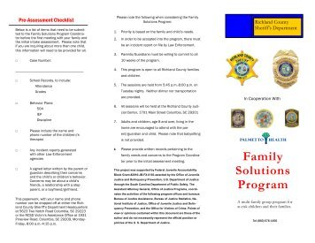 FSP brochure - Richland County Sheriff's Department