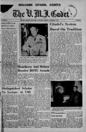 The Cadet. VMI Newspaper. November 03, 1961 - New Page 1 ...