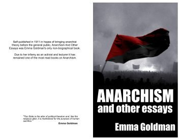 Emma goldman anarchism and other essays uncover the term paper writing services