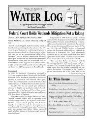 Water Log 25.4 - Mississippi-Alabama Sea Grant Legal Program