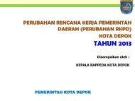 TAHUN 2013 - Bappeda Depok - Pemerintah Kota Depok