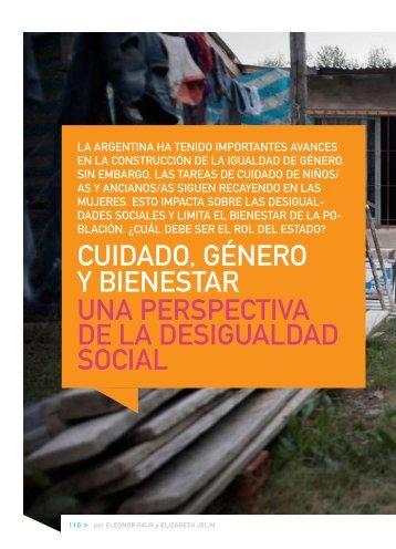 cuidado, género y bienestar una perspectiva de la desigualdad social